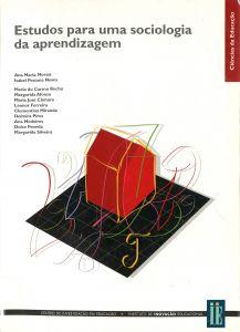 """Capa do livro """"Estudos para uma Sociologia da Aprendizagem""""."""
