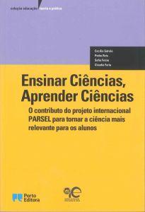 """Capa do livro """"Ensinar Ciências, Aprender Ciências"""", de Cecília Galvão, Pedro Reis, Sofia Freire e Cláudia Faria"""