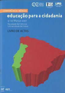 """Capa do livro """"Educação para a Cidadania - Actas da Conferência Ibérica"""". Organizadores: Florbela Sousa e Carolina Carvalho"""