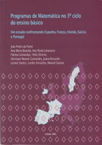 """Capa do livro """"Programas de Matemática no 3º Ciclo do Ensino Básico - Um Estudo confrontando Espanha, França, Irlanda, Suécia e Portugal"""""""