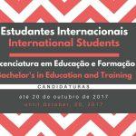 Candidaturas – Estudantes Internacionais