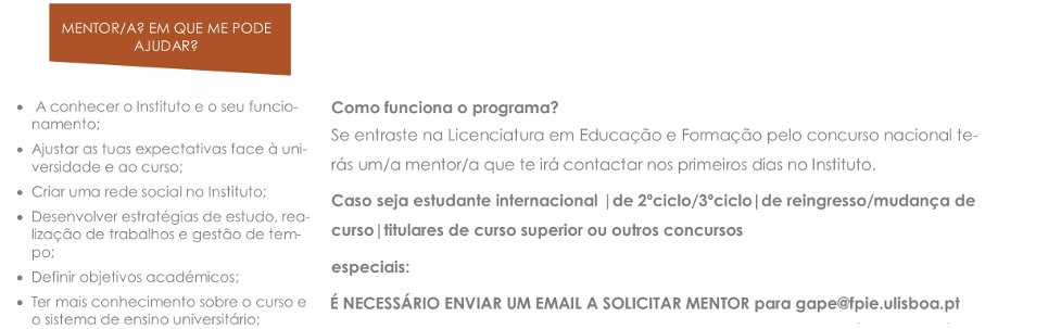 Programa de Mentorado 2018-2019