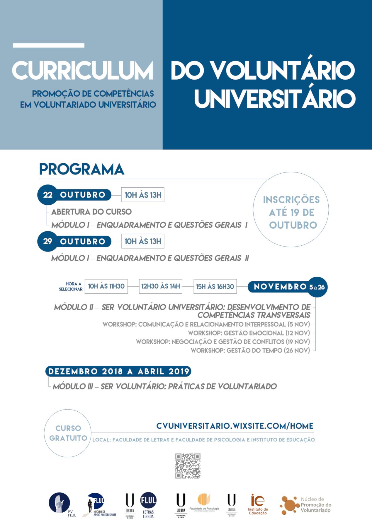 Curso de Voluntariado Universitário