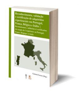 """Capa do E-Book """"Reconhecimento, validação e certificação de adquiridos experienciais em Portugal, França, Bélgica e Itália"""""""