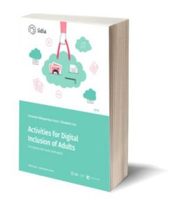 "Capa do E-Book ""Activities for Digital Inclusion of Adults"""