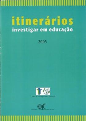 """Capa do livro """"Itinerários: Investigar em Educação"""" (2005)"""
